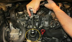 how-to-change-engine-oil-volvo-d5-step5