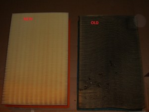 NEW VS OLD AIR FILTER VOLVO ENGINE