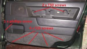 850 door panel removal