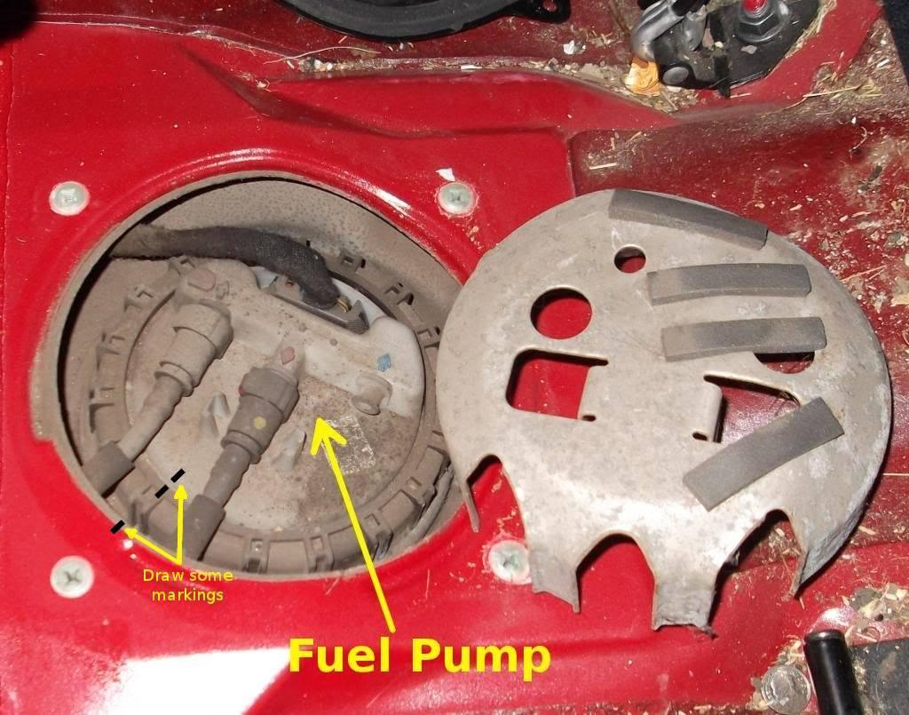 How To Replace Fuel Pump Volvo S40 And V40 1996 2004 740 Filter Location Use A Marker Pen Mark Small Line Or Dot Where The Body Is In Relation Metal Car Many Thanks Keith 960kg For Pointing This Out